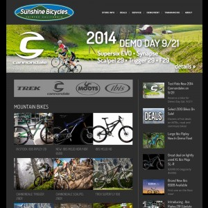 Sunshine Bikes Website Screenshot