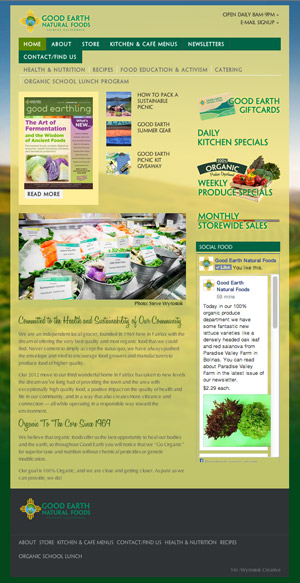 Good Earth Natural Foods Fairfax | Website